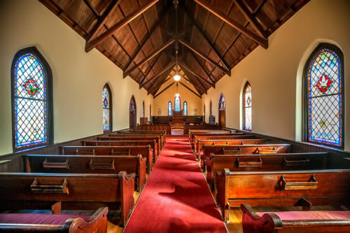 Interior of Weddings at St. Mary's Chapel - Charlotte NC.