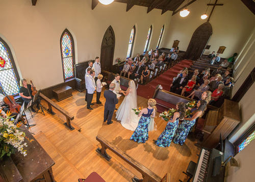 Wedding Ceremony at St. Mary's Chapel - Charlotte NC